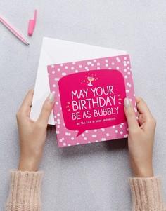 Открытка на день рождения Happy Jackson Bubbly Prosecco - Мульти