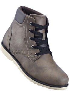 Ботинки на шнуровке (коричневый) Bonprix