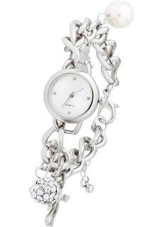 Наручные часы с подвесками (серебристый) Bonprix