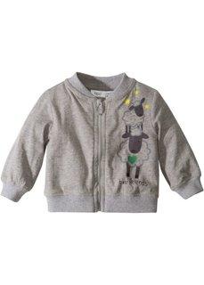 Для малышей: трикотажная куртка из органического хлопка (светло-серый меланж) Bonprix