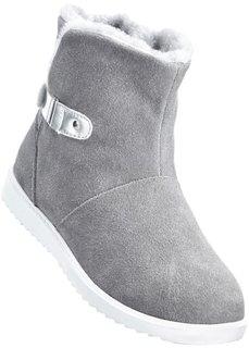 Замшевые ботинки (светло-серый деним/серебристый) Bonprix