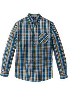 Клетчатая рубашка Regular Fit с длинным рукавом (синий/желтый в клетку) Bonprix