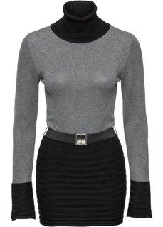 Пуловер (черный/серый) Bonprix
