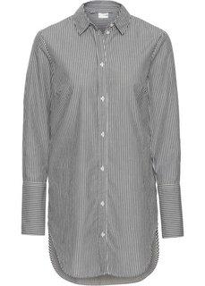 Удлиненная блузка (белый/черный в полоску) Bonprix