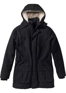 Куртка-парка на ватной подкладке (черный) Bonprix