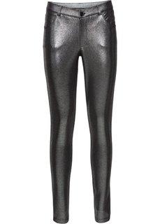 Трикотажные брюки с металлическим отливом (серебристый) Bonprix