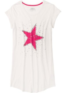 Ночная сорочка (кремовый/ярко-розовый с рисунком) Bonprix