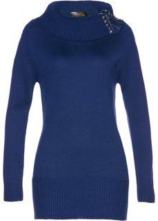 Длинный пуловер (ночная синь) Bonprix