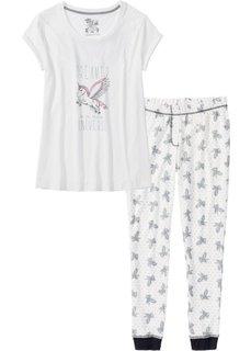 Пижама (кремовый с рисунком) Bonprix
