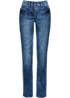 Стрейтчевые джинсы (синий «потертый») Bonprix