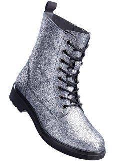 Ботильоны на шнуровке (серый блестящий) Bonprix