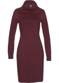Вязаное платье (кленово-красный) Bonprix