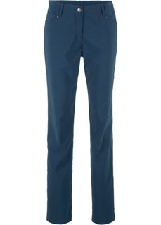 Узкие брюки из бенгалина с пятью карманами (темно-синий) Bonprix