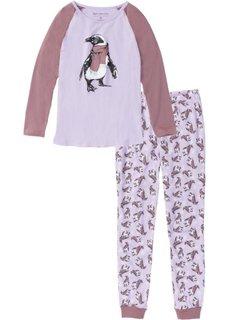 Пижама (сиреневая фиалка с рисунком) Bonprix