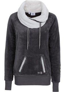 Флисовая куртка с длинным рукавом (шиферно-серый/серебристый матовый) Bonprix