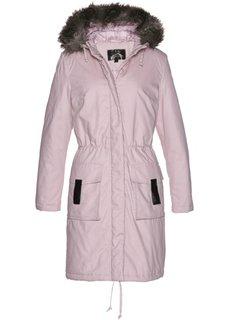 Модная длинная куртка-парка (розовый) Bonprix