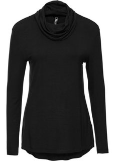 Пуловер с высоким воротом (черный) Bonprix