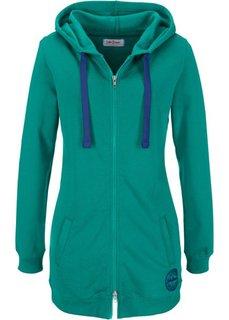 Удлиненная трикотажная куртка (синий) Bonprix