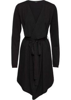 Вязаное пальто (черный) Bonprix