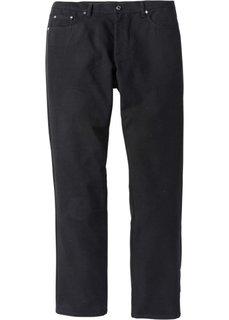 Брюки  Regular Fit в стиле 5 карманов, низкий + высокий рост (U + S) (черный) Bonprix