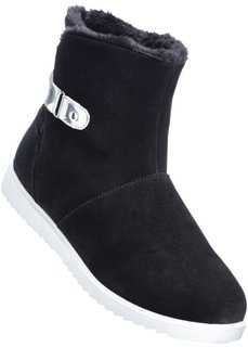 Замшевые ботинки (черный/серебристый) Bonprix
