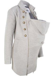 Пальто для беременных с карманом-вкладкой для малыша (светло-серый меланж) Bonprix