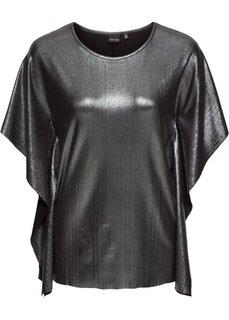 Блестящая футболка (черный) Bonprix