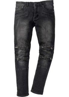 Джинсы-стретч Skinny Fit Straight, длина (в дюймах) 34 (черный) Bonprix