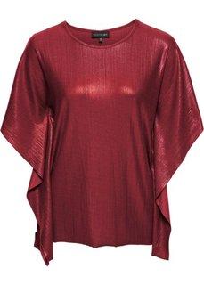 Блестящая футболка (бордовый) Bonprix