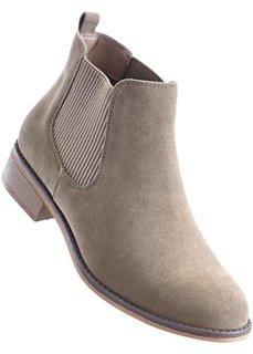 Ботинки-челси (серо-коричневый) Bonprix