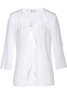 Сатиновая блузка (белый) Bonprix