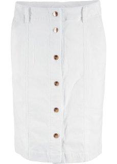 Стрейчевая юбка на пуговицах (кремовый) Bonprix