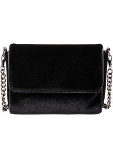 Бархатная сумка (черный) Bonprix