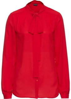 Блузка с бантом (красный) Bonprix