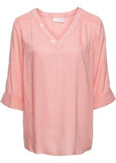 Блузка с пайетками (персиковый) Bonprix