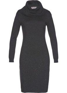 Вязаное платье (антрацитовый меланж) Bonprix