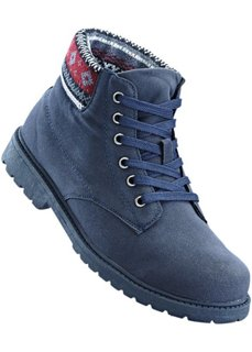 Ботинки на шнуровке (темно-синий) Bonprix