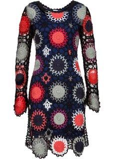 Платье из вязаного кружева (черный) Bonprix