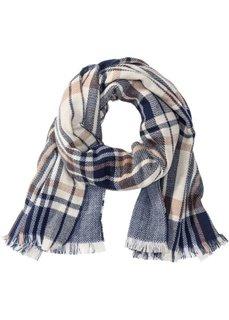 Двухсторонний шарф XXL (синий/кремовый) Bonprix