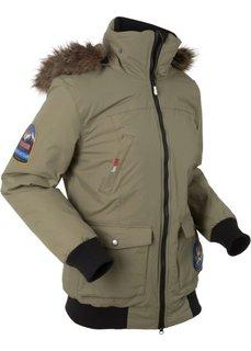 Функциональная теплая куртка с капюшоном (оливковый) Bonprix