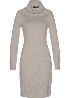 Вязаное платье (меланжевый натуральный камень) Bonprix