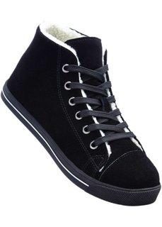 Замшевые кроссовки (черный) Bonprix
