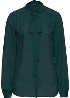 Блузка с бантом (зеленый) Bonprix