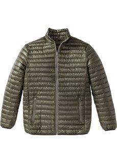 Легкая стеганая куртка Regular Fit (темно-оливковый) Bonprix