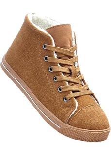 Замшевые кроссовки (коричневый) Bonprix