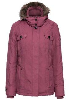 Зимняя куртка со съемным капюшоном (земляничный) Bonprix