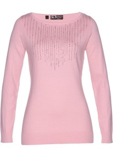 Пуловер (розовая пудра) Bonprix