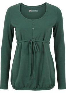 Мода для беременных: футболка с функцией кормления (зеленый) Bonprix