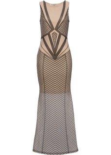 Вечернее платье (натуральный/черный) Bonprix