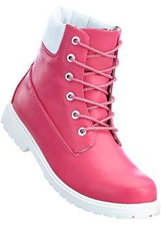 Ботинки на шнурках (ярко-розовый/белый) Bonprix